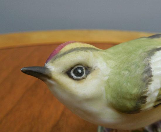 royal worcester/ロイヤルウースター◇鳥の陶器人形 GOLD CREST ゴールドクレスト キクイタダキ フィギュリン 野鳥 札幌_画像7