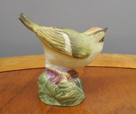 royal worcester/ロイヤルウースター◇鳥の陶器人形 GOLD CREST ゴールドクレスト キクイタダキ フィギュリン 野鳥 札幌_画像2