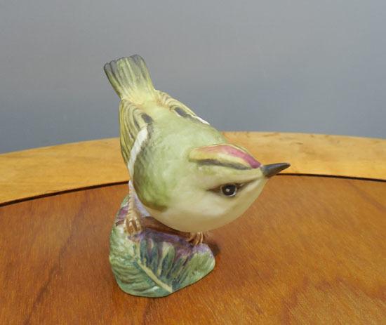 royal worcester/ロイヤルウースター◇鳥の陶器人形 GOLD CREST ゴールドクレスト キクイタダキ フィギュリン 野鳥 札幌_画像3