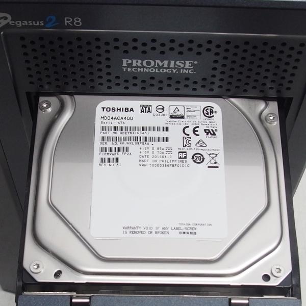 PROMISE Pegasus2 R8 32TB(4TBx8 SATA HDD) Thunderbolt2 Mac用ストレージ デイジーチェイン対応 クリエイター 4Kビデオ制作に!*264478_画像6