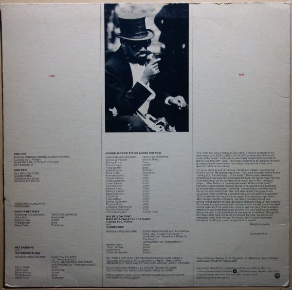 Rahsaan Roland Kirk - Boogie-Woogie String Along For Real_画像2