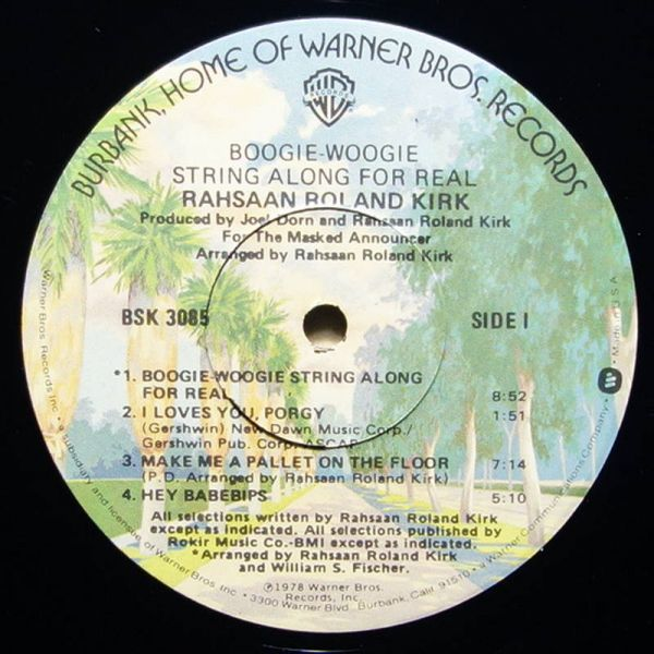 Rahsaan Roland Kirk - Boogie-Woogie String Along For Real_画像3