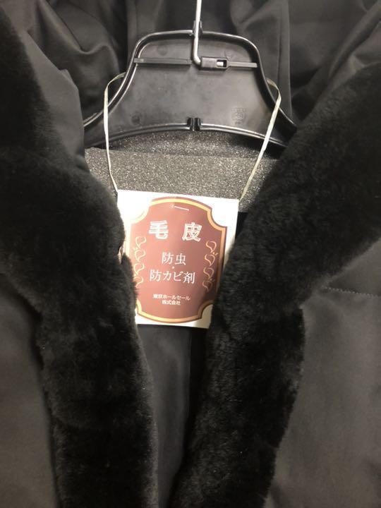 フォクシー ヌートリアファ付きダウンコート 黒 クリーニング済 38ですが、大き目です。_画像6