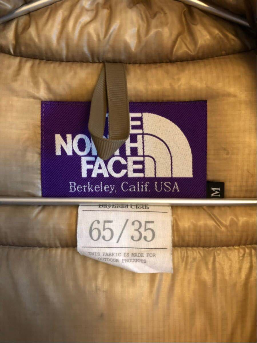 【THE NORTH FACE PURPLE LABEL 】 65/35 BAYHEAD CROSS MOUNTAIN SHORT DOWN PARKA ベージュ/Mサイズ_画像9