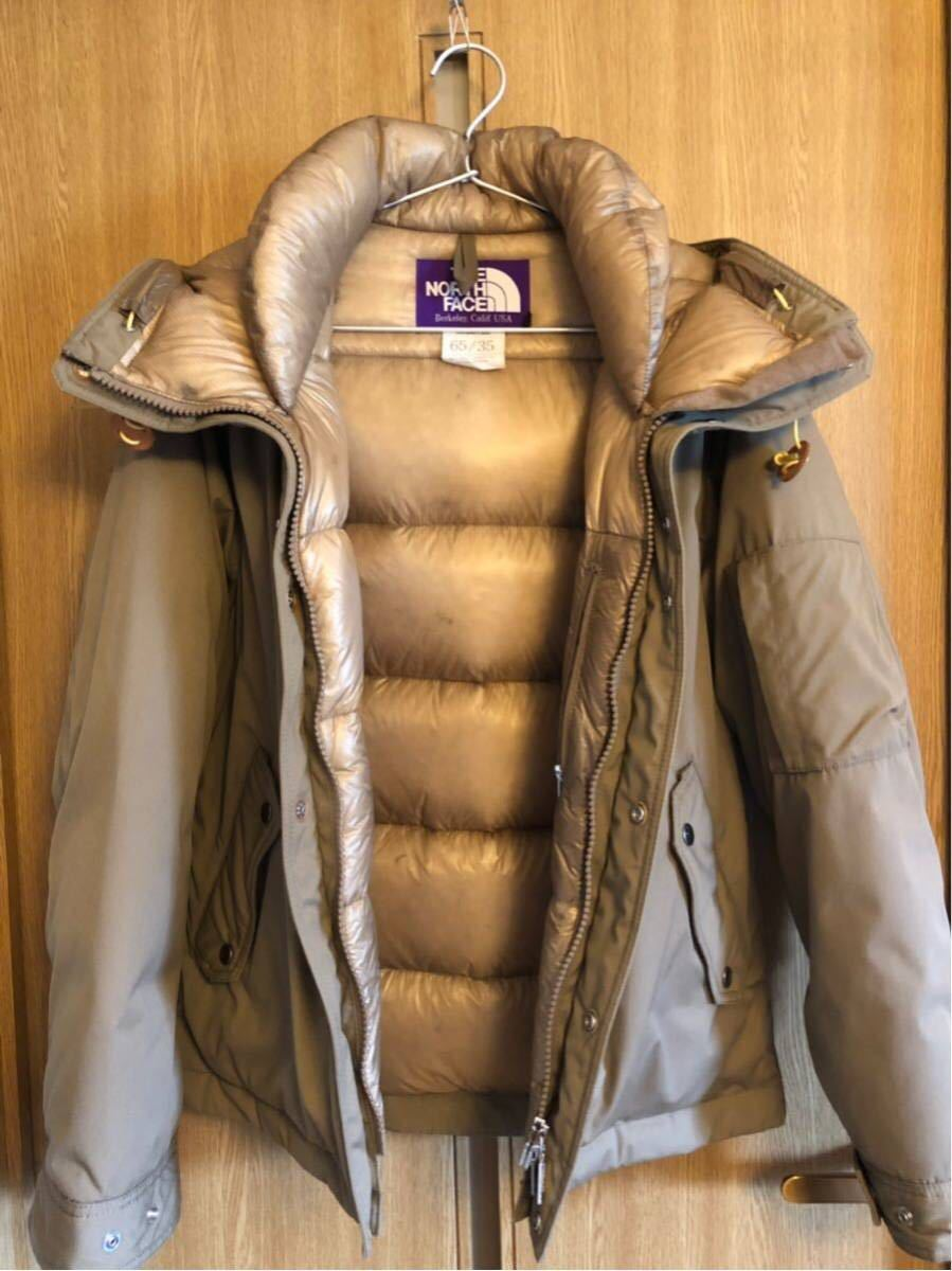 【THE NORTH FACE PURPLE LABEL 】 65/35 BAYHEAD CROSS MOUNTAIN SHORT DOWN PARKA ベージュ/Mサイズ_画像3