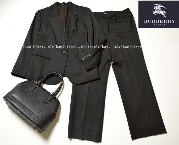 新品同様*BURBERRY バーバリーロンドン 高級 セットアップ パンツスーツ*大きいサイズ15