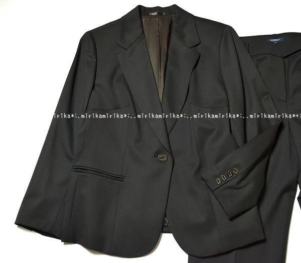 新品同様*BURBERRY バーバリーロンドン 高級 セットアップ パンツスーツ*大きいサイズ15_画像2