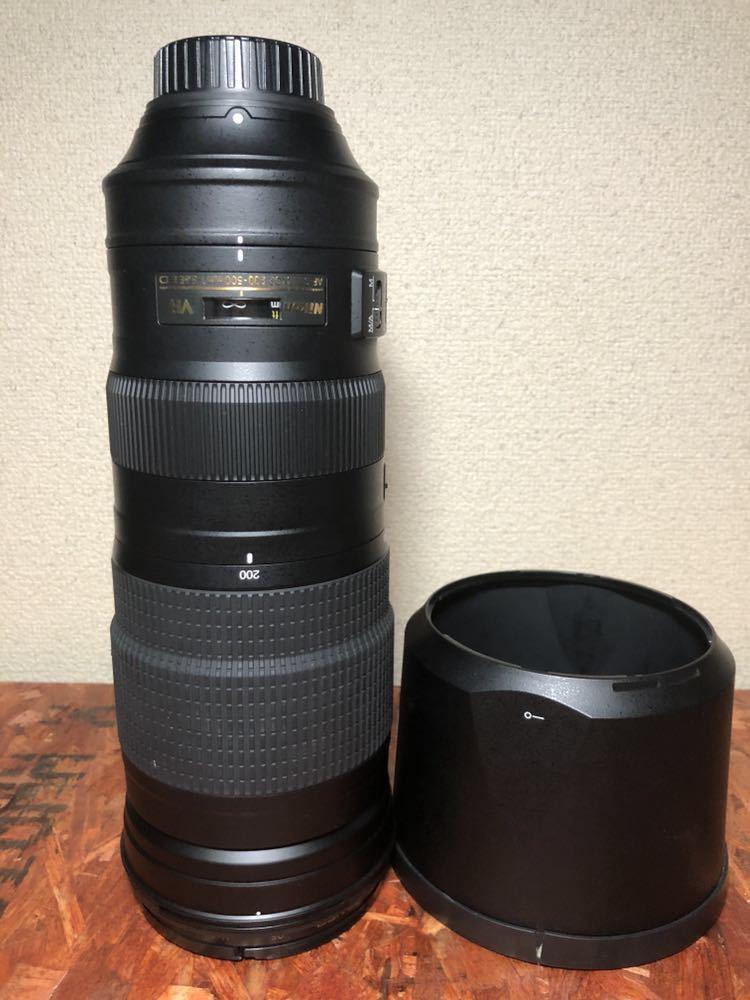 送料込み!AF-S NIKKOR 200-500mm f/5.6E ED VR 美品 ニコン 超望遠レンズ