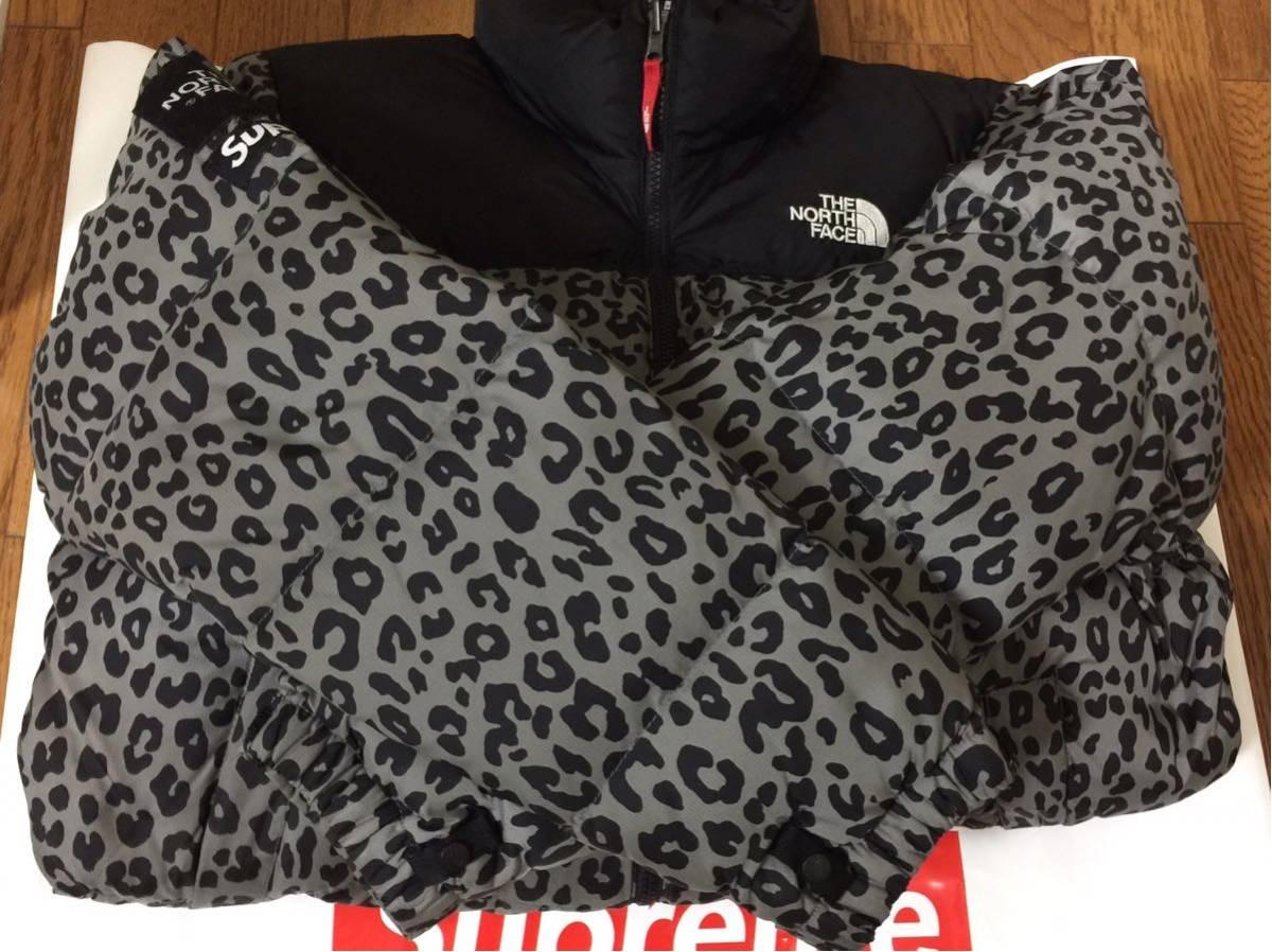 超激安国内直営店購入正規品 Sサイズ supreme × THE NORTH FACE 11aw Leopard Nuptse Dawn Jacket シュプリーム ヌプシダウン レオパード_画像3