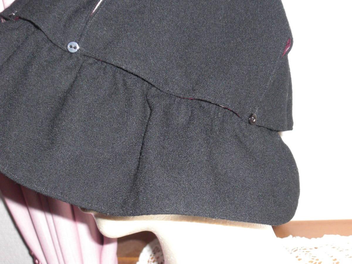 ■1点物【ハンドメイド /手作り/リバーシブル】■和&洋【着物かすり&黒/1点で2役便利!】■通気性スリット有り/ソフト帽/コットン帽子