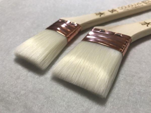 【道具や】 銅巻き 水性刷毛 10号 10本 ナイロン チャンピオン_左10号 右15号
