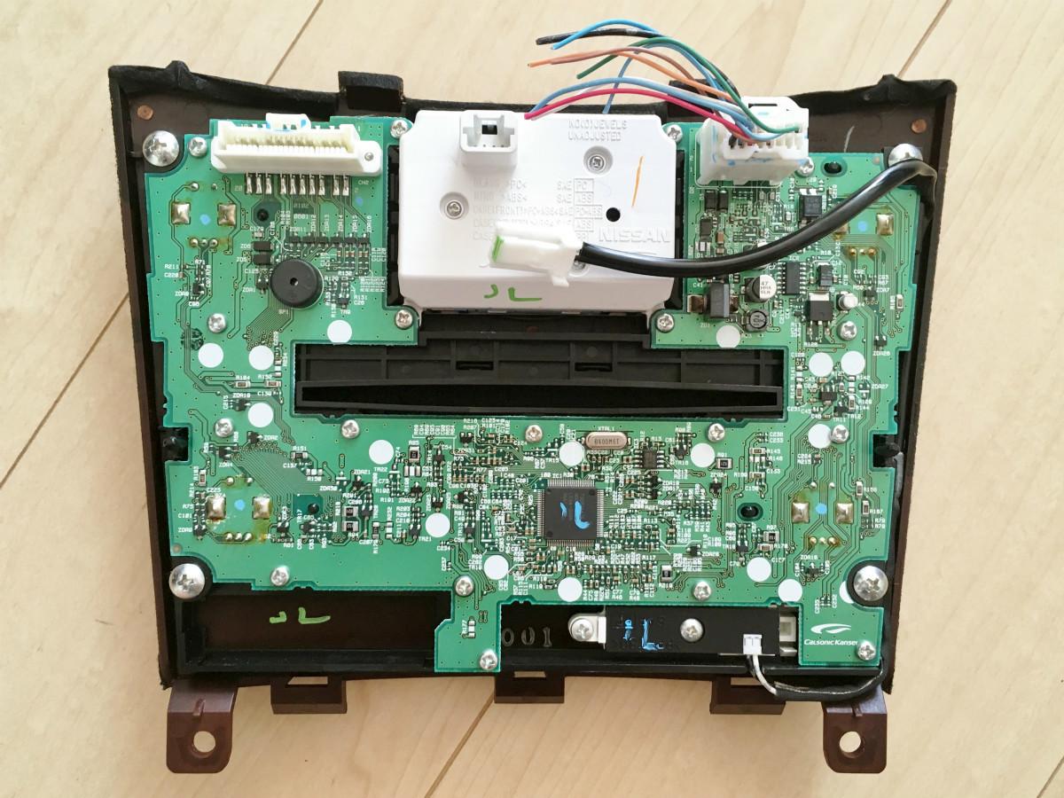 インフィニティ G37 純正 アナログ クロック 時計 エアコンパネル オーディオパネル ウッドパネル V36 スカイライン クーペ CKV36 EX35 Q60_画像2