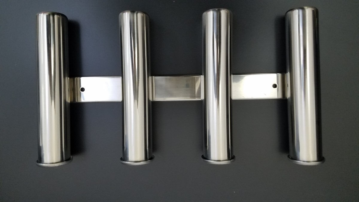 「ステンレス製 4連 ロッドホルダー 2個セット 錆びに強いSUS316ステンレス使用 在庫あります」の画像2