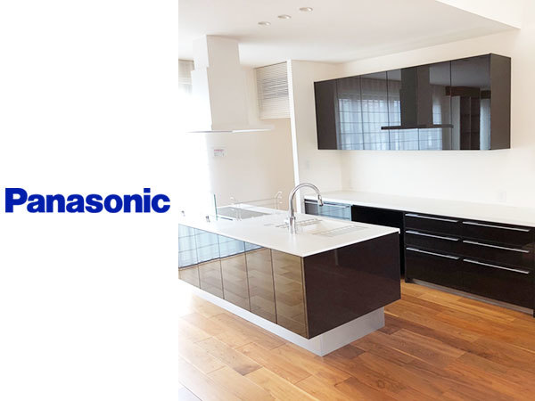 N2307【展示未使用品】パナソニック 高級システムキッチン/人造大理石天板/IHコンロ/食洗