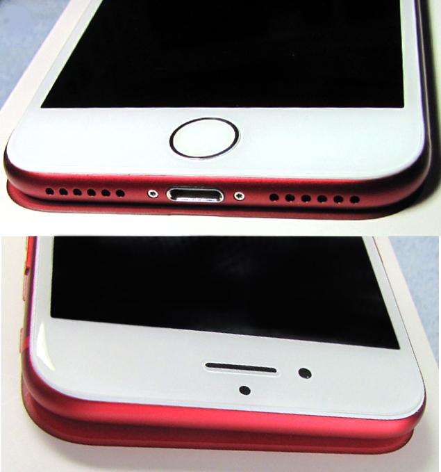 傷なし 新品同様 SIMフリー 化済 Apple iPhone7 128GB レッド docomo版 SIMロック解除済 純正バッテリ94% 格安SIM iphone 7 スピード発送_画像4