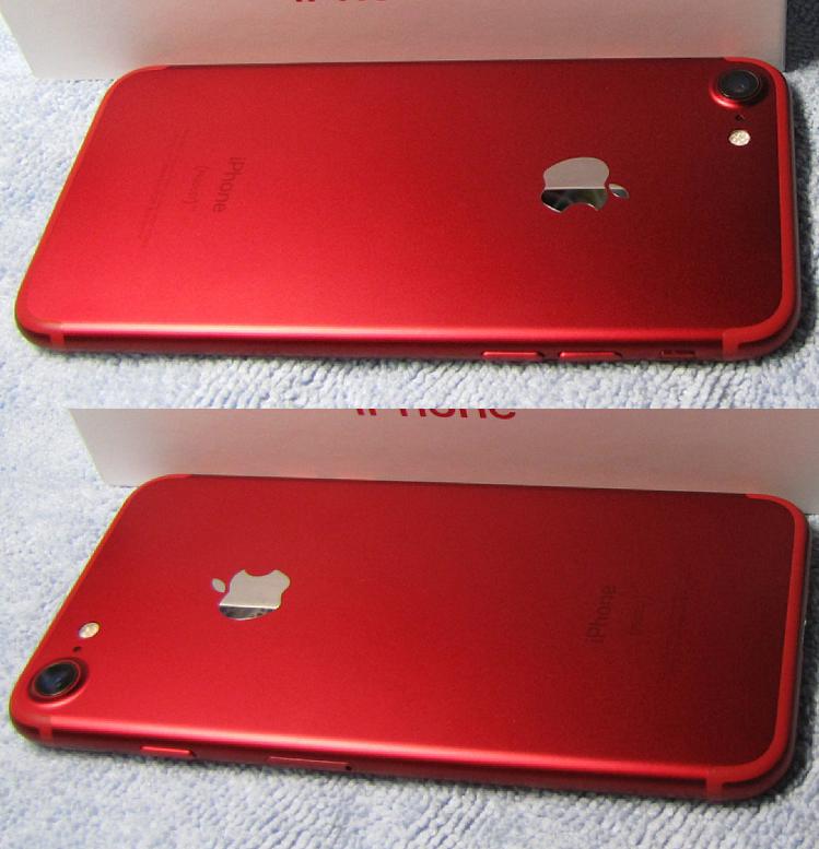 傷なし 新品同様 SIMフリー 化済 Apple iPhone7 128GB レッド docomo版 SIMロック解除済 純正バッテリ94% 格安SIM iphone 7 スピード発送_画像7
