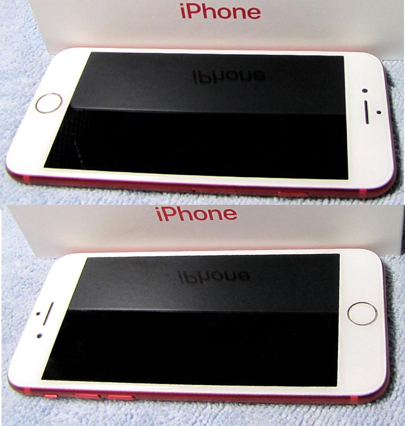 傷なし 新品同様 SIMフリー 化済 Apple iPhone7 128GB レッド docomo版 SIMロック解除済 純正バッテリ94% 格安SIM iphone 7 スピード発送_画像6