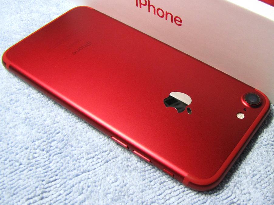 傷なし 新品同様 SIMフリー 化済 Apple iPhone7 128GB レッド docomo版 SIMロック解除済 純正バッテリ94% 格安SIM iphone 7 スピード発送_画像9