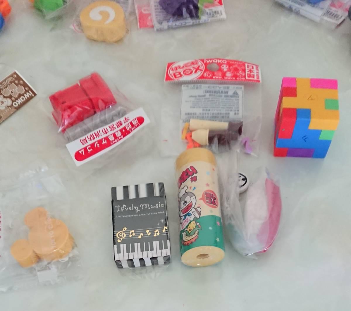 ★消しゴム類まとめてセット けしごむBOX フードサンプル系 うまい棒 等20点~_OPPフィルムに剥がれ。袋なしのものあり