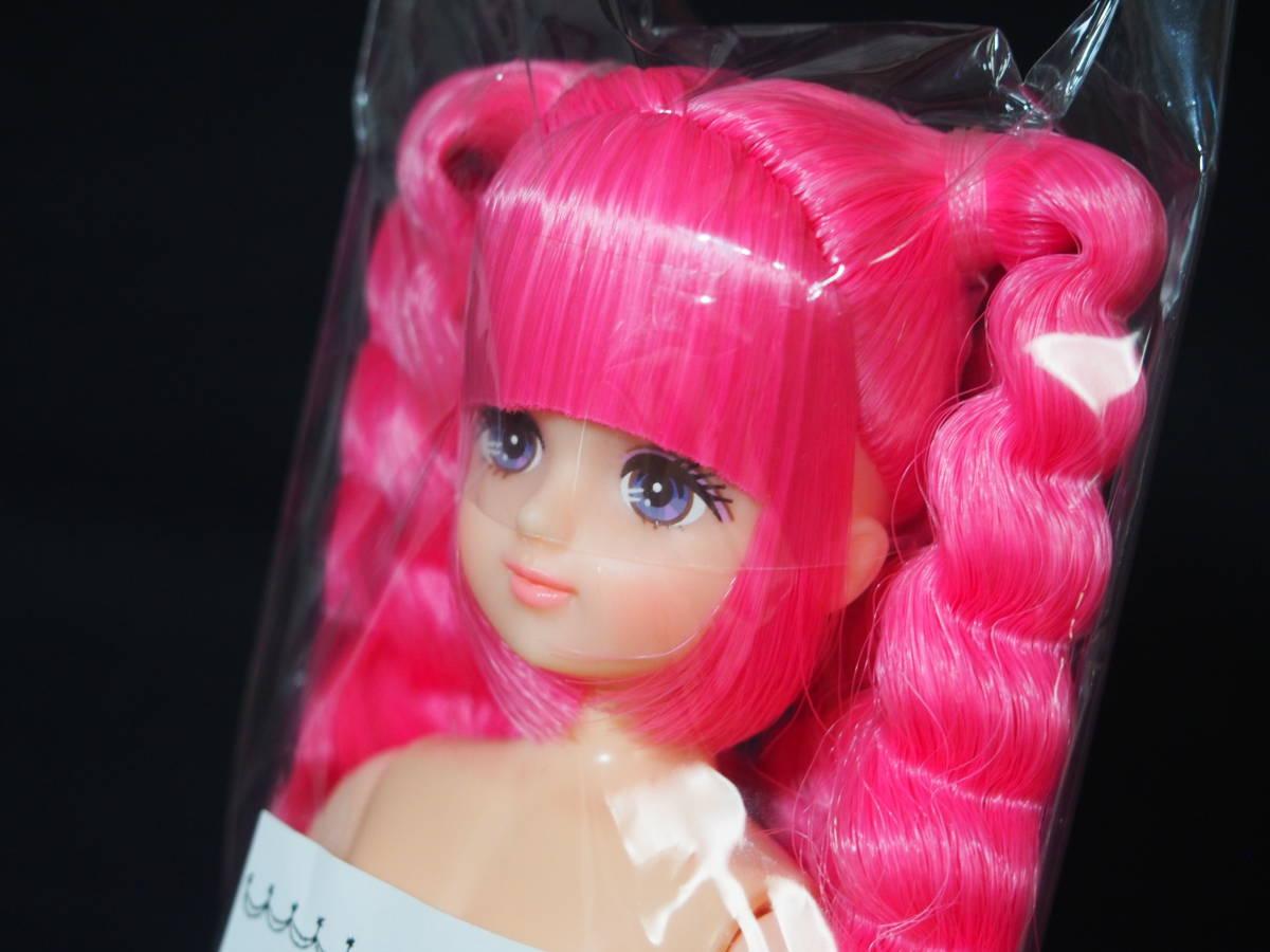 ESCドール パレットF 色髪 ピンク mixヘア 姫カット ツインテール リカちゃんキャッスル 日本製 お楽しみドール ESC ドール 22cm 1/6_画像2
