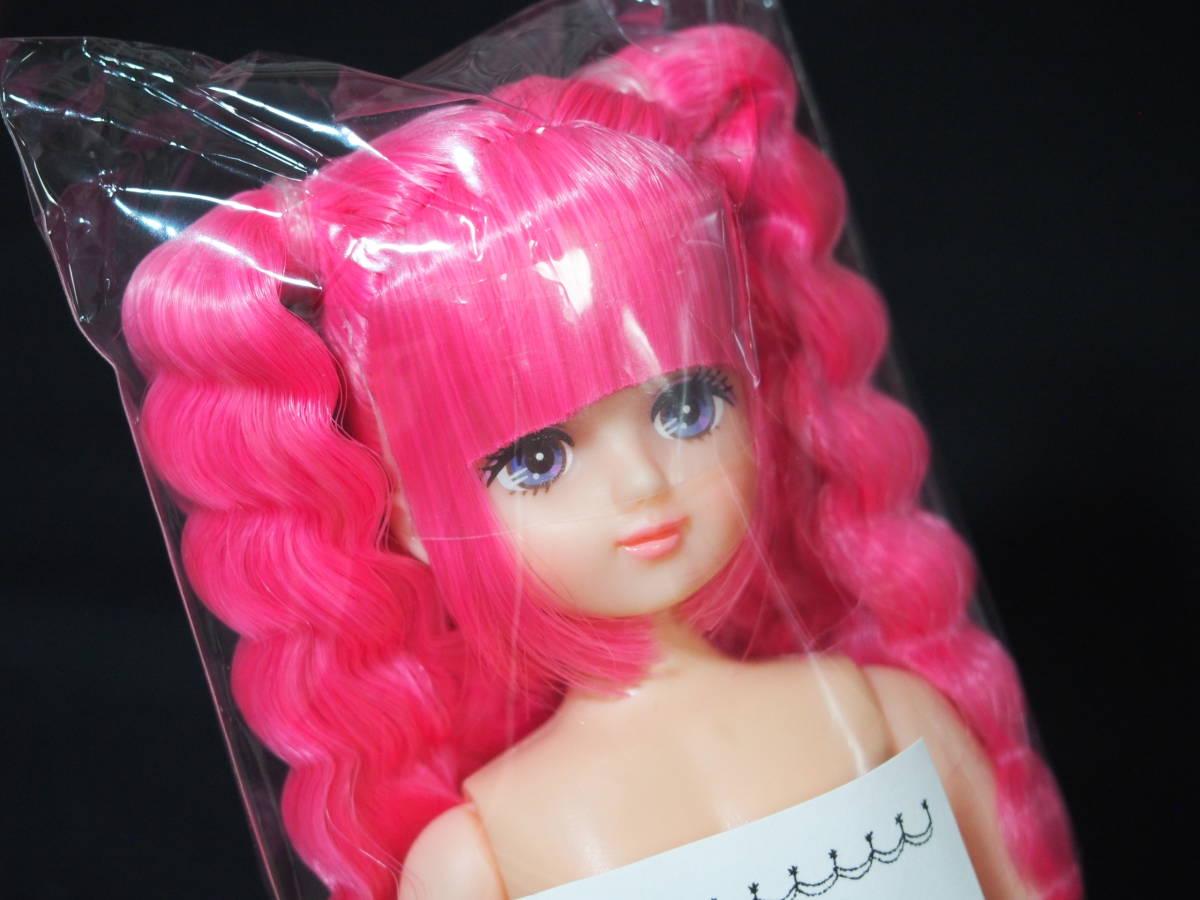 ESCドール パレットF 色髪 ピンク mixヘア 姫カット ツインテール リカちゃんキャッスル 日本製 お楽しみドール ESC ドール 22cm 1/6_画像3