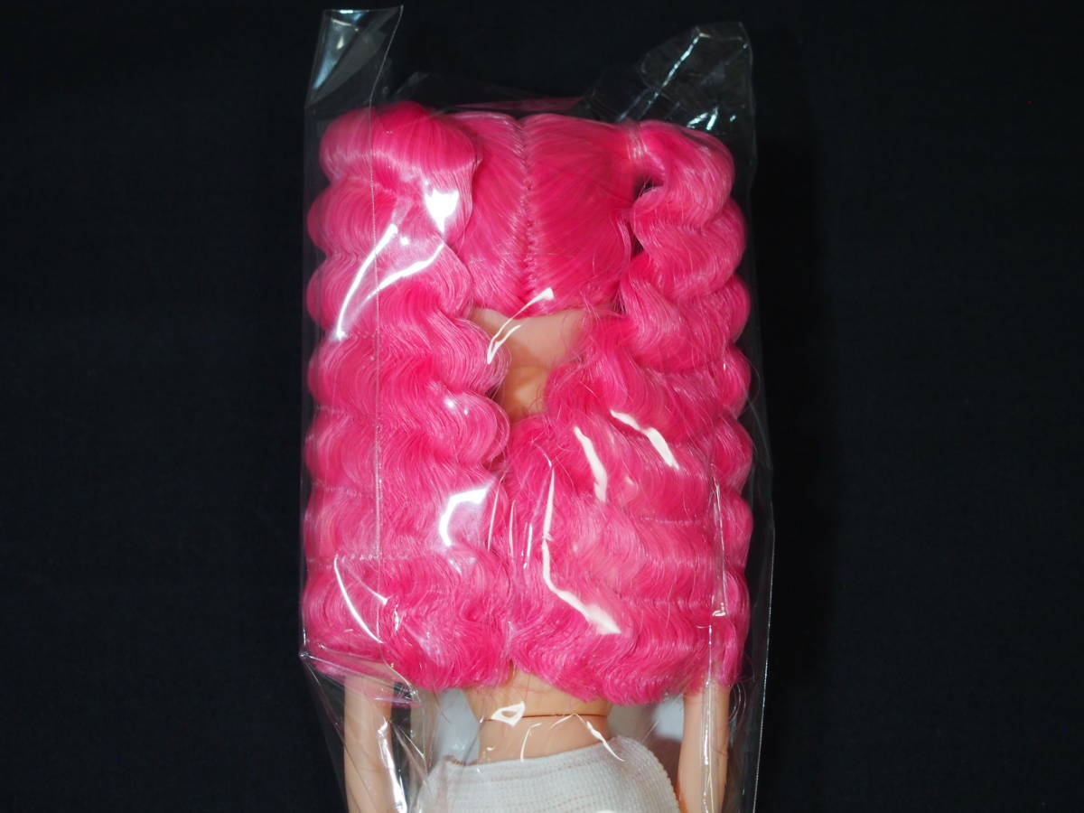ESCドール パレットF 色髪 ピンク mixヘア 姫カット ツインテール リカちゃんキャッスル 日本製 お楽しみドール ESC ドール 22cm 1/6_画像4