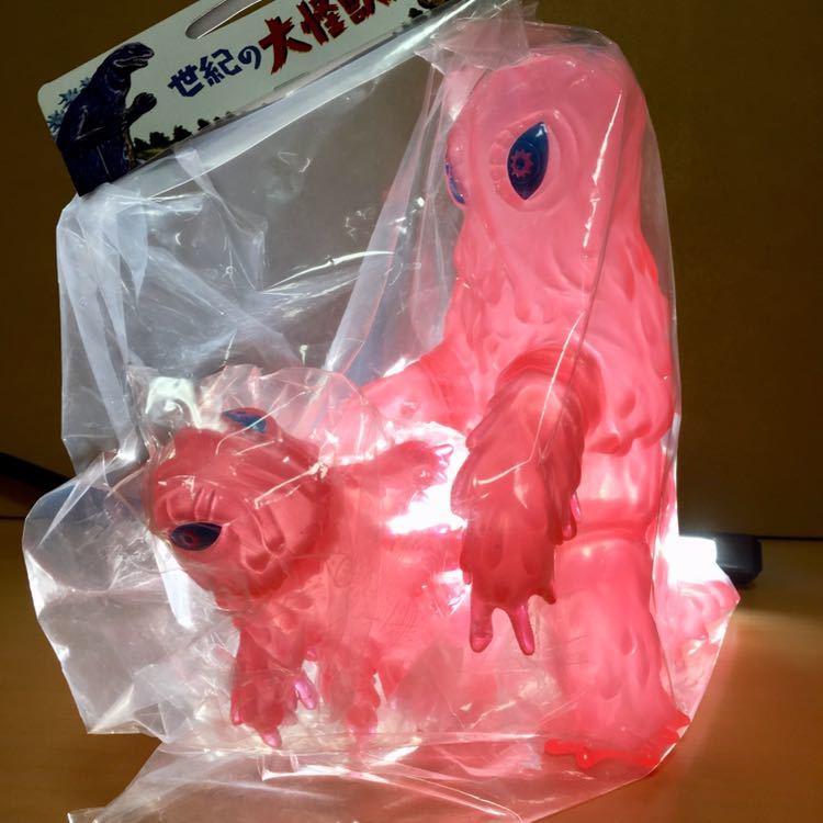 ヘドラ350 A& Baby 特殊成型版 ピンク 二重 成型 水中期 幼体 東宝 怪獣 ソフビ フィギュア marusan マルサン GODZILLA HEDORAH_画像1