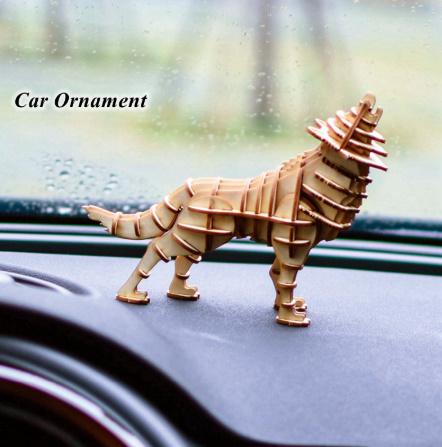 【プラモデル木製】 木製動物 & ビルディングパズル 子供天然木のおもちゃモデル構築キット 教育趣味ギフト  k077_画像4