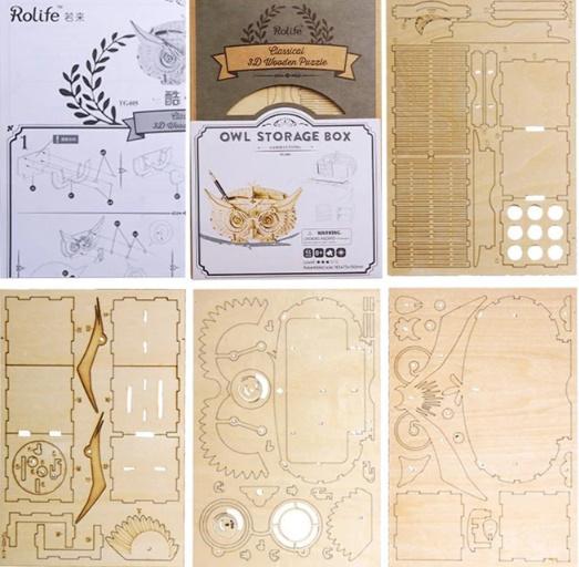 【プラモデル木製】 木製動物 & ビルディングパズル 子供天然木のおもちゃモデル構築キット 教育趣味ギフト  k077_画像3