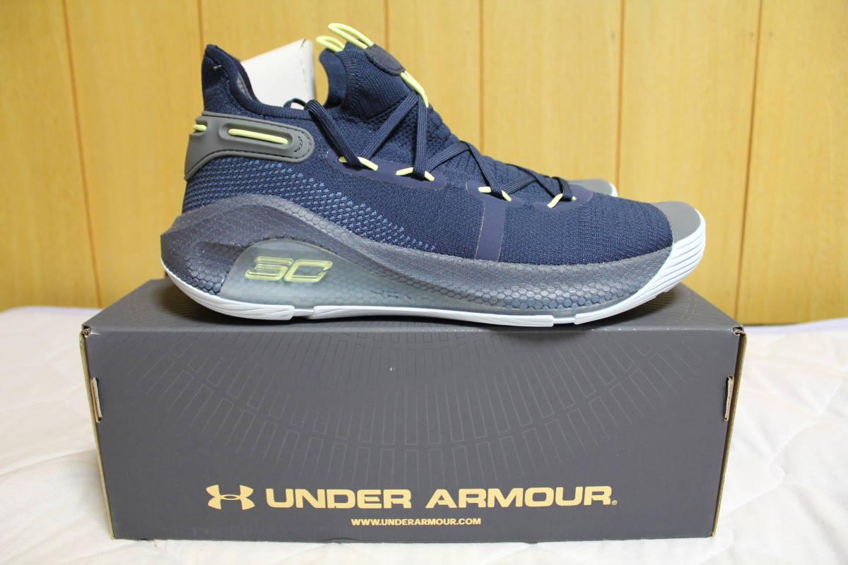 アンダーアーマー U バスケ シューズ カリー6 Curry6 (Academy/Thunder/Fade)  29.5cm 新品