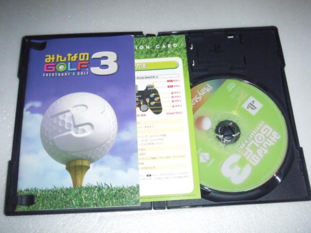 中古 PS2 みんなのゴルフ3 動作保証 同梱可_画像1