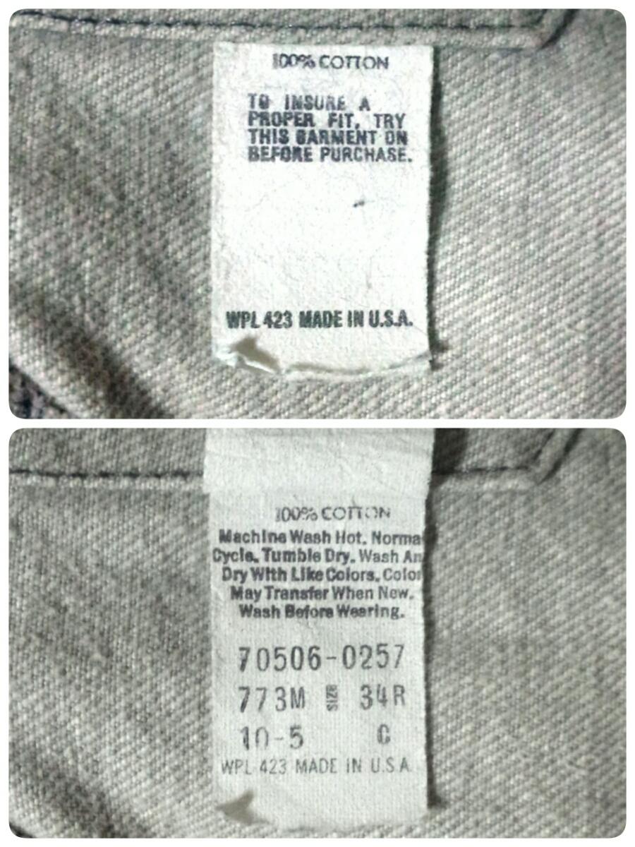 MADE IN USA製vintageヴィンテージLevisデニムジャケットGジャン70506ジージャン34Rビンテージ80sアメリカ製70505サード80年代557グレー3rd_画像2