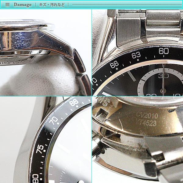 TAG Heuer タグホイヤー カレラ クロノグラフ メンズ 腕時計 オートマチック CV2010 ブラック シルバー 裏スケ スポーツ 男性 紳士 人気_画像5