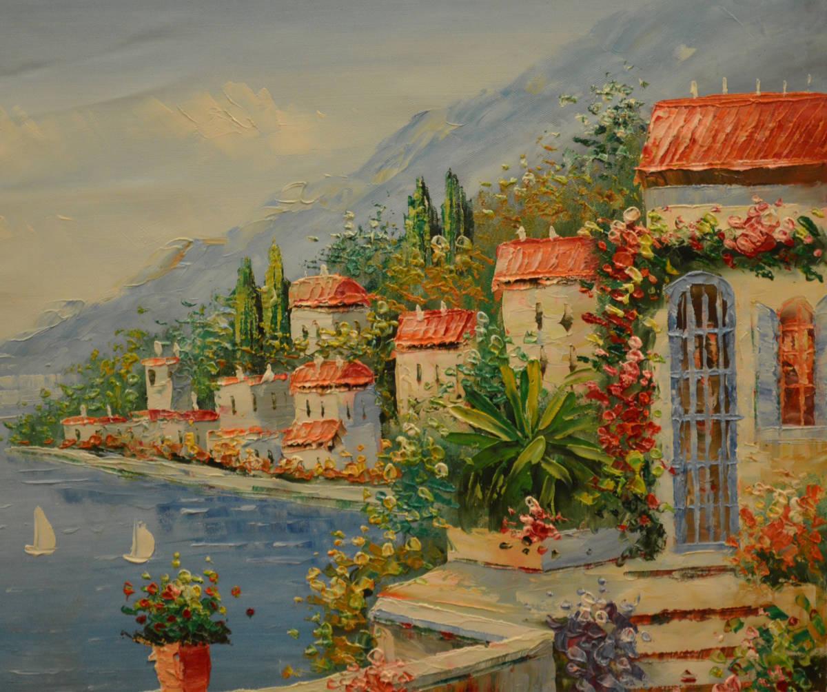 油絵 絵画 油彩 美術品 風景画 観光 縁起物 肉筆 新築祝い、開店祝い、病院の待合スペースなどにF12 NO-66_画像3