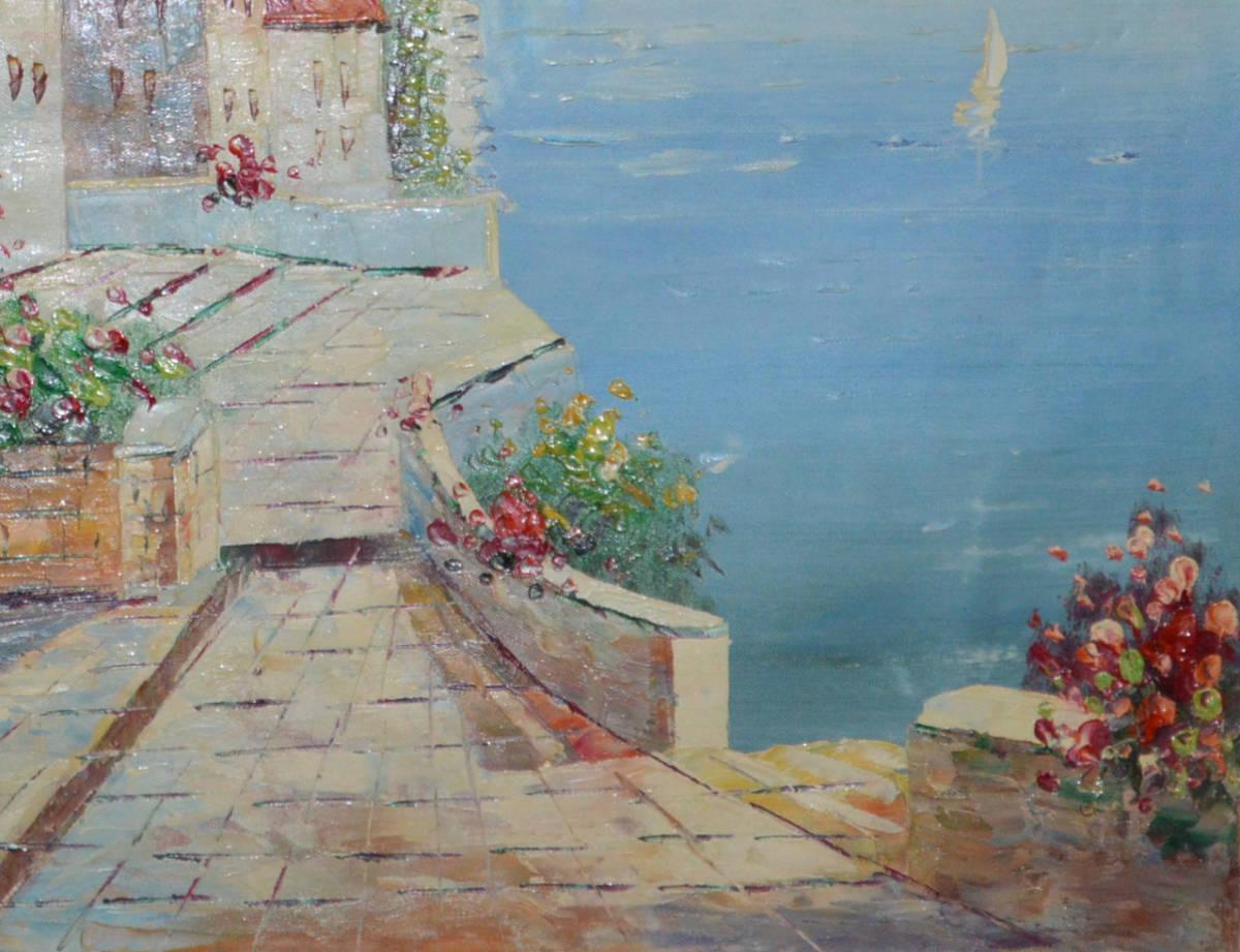 油絵 絵画 油彩 美術品 風景画 観光の海 肉筆 真作 F12 NO-77_画像6