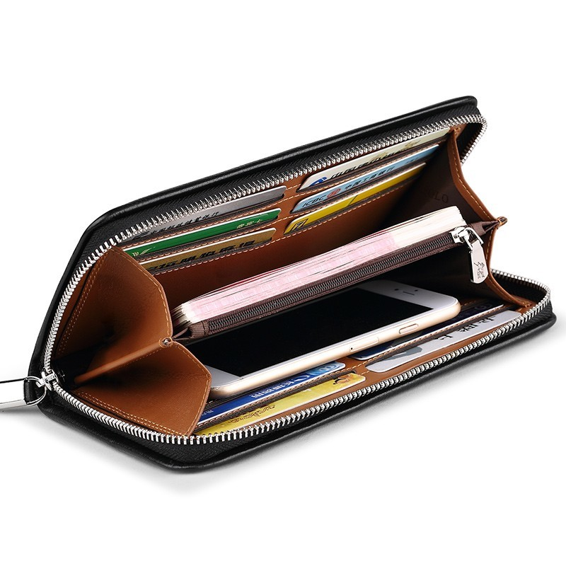 「WILLIAMPOLO」ラウンドファスナー長財布 カード入れ付き お札入れ メンズ 人気 シンプル 紳士用 小銭入れあり 正規品 箱付き POLO226_画像8