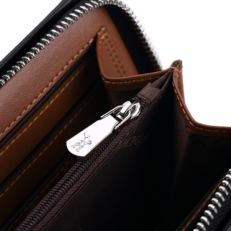 「WILLIAMPOLO」ラウンドファスナー長財布 カード入れ付き お札入れ メンズ 人気 シンプル 紳士用 小銭入れあり 正規品 箱付き POLO226_画像6