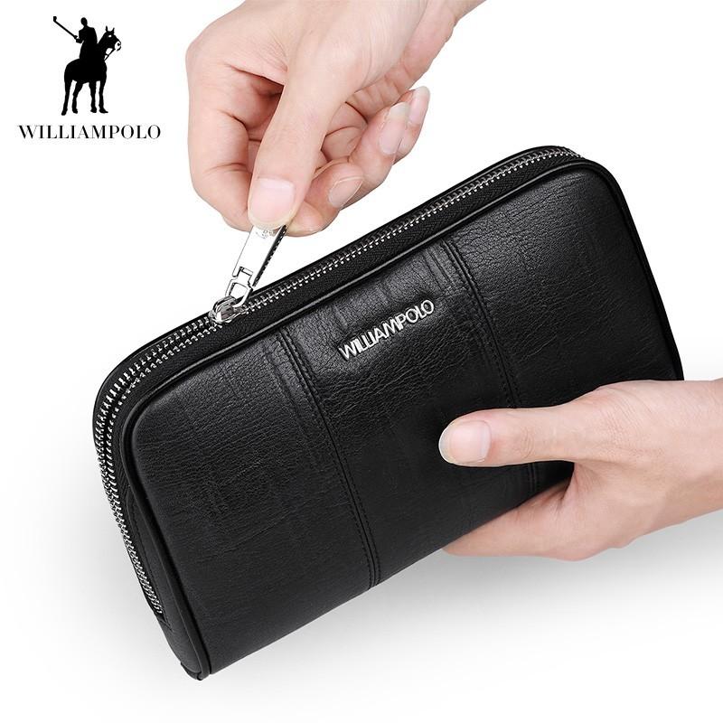 「WILLIAMPOLO」ラウンドファスナー長財布 カード入れ付き 小銭入れあり お札入れ メンズ 人気 シンプル 正規品 箱付き POLO287_画像6