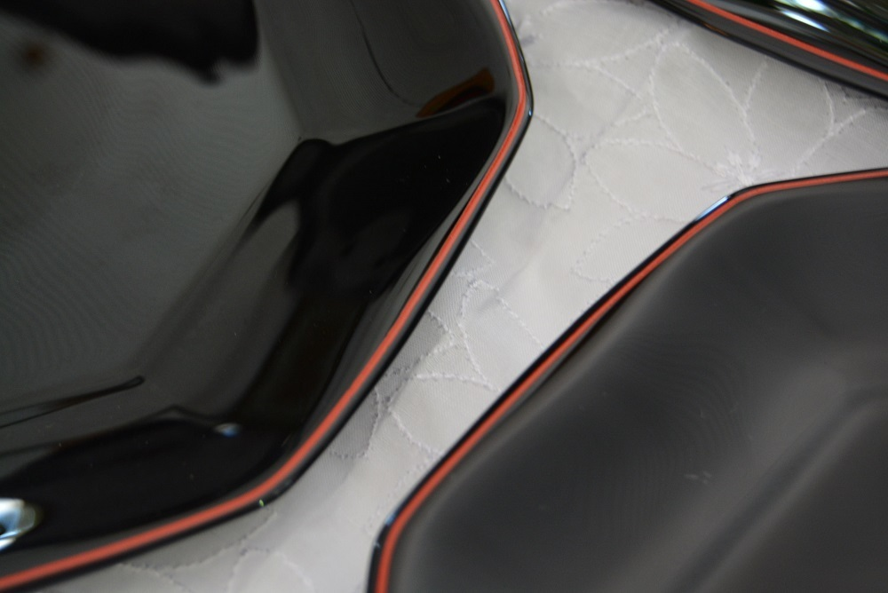 3002r28 フランス製 8角形プレート/中皿 5枚組 ブラック/黒 光沢感のある大人シックなブラックカラーが落ち着いた印象を感じさせる逸品_画像5