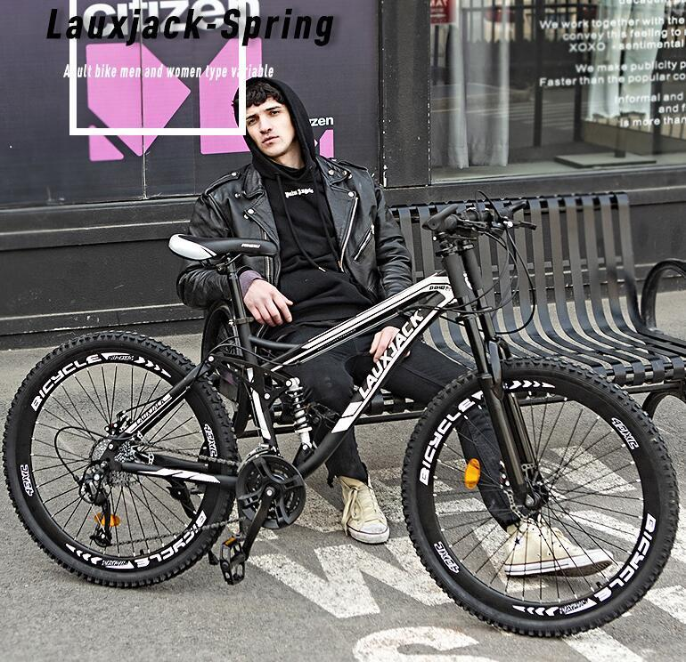 新品 lauxjack 自転車 本体 マウンテンバイク 26インチ 21変速_画像2