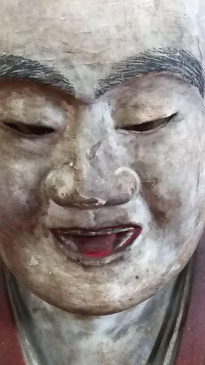 (鳥羽)初荷品室町~江戸期大型玉眼法然座上人仏 台座付_画像2