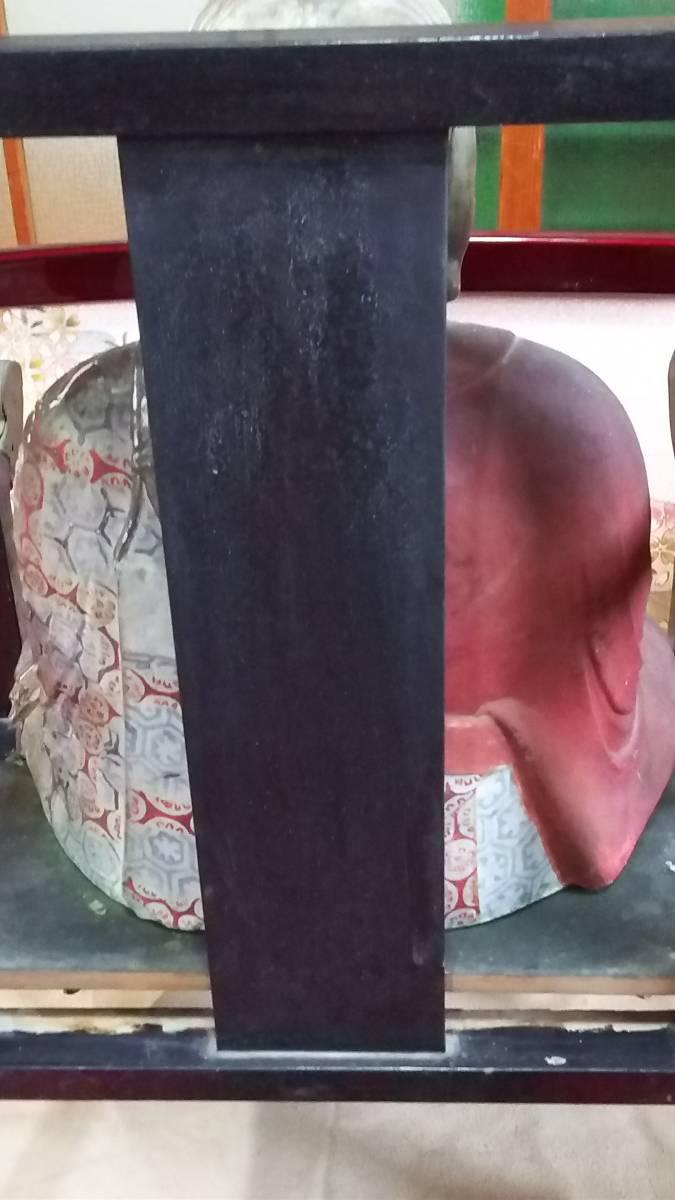 (鳥羽)初荷品室町~江戸期大型玉眼法然座上人仏 台座付_画像7