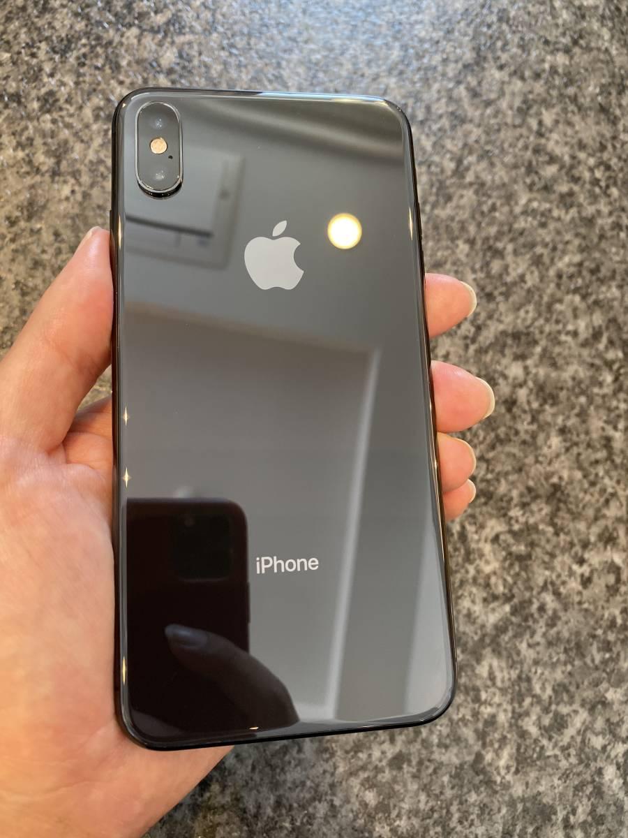 美品 iPhone Xs Max 512GB スペースグレイ MT6X2J/A 残債なし 国内版SIMフリー_画像2