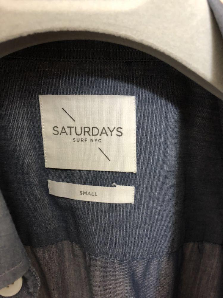 SATURDAYS SURF NYC(サタデーズサーフニューヨーク)ボタンダウン メンズ シャツ JPN:S コットン 100 半袖シャツ