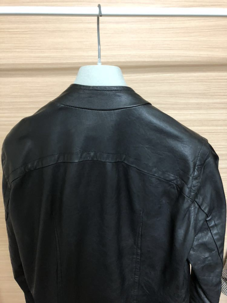 Rick Owens リックオウエンス レザージャケット RU3763 サイズ:XS カラー:ブラック ラムレザー_画像4