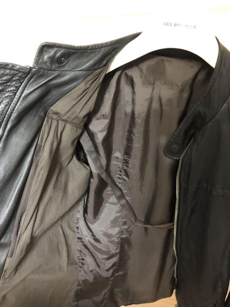Rick Owens リックオウエンス レザージャケット RU3763 サイズ:XS カラー:ブラック ラムレザー_画像7