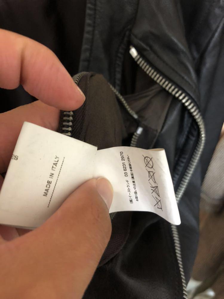 Rick Owens リックオウエンス レザージャケット RU3763 サイズ:XS カラー:ブラック ラムレザー_画像9