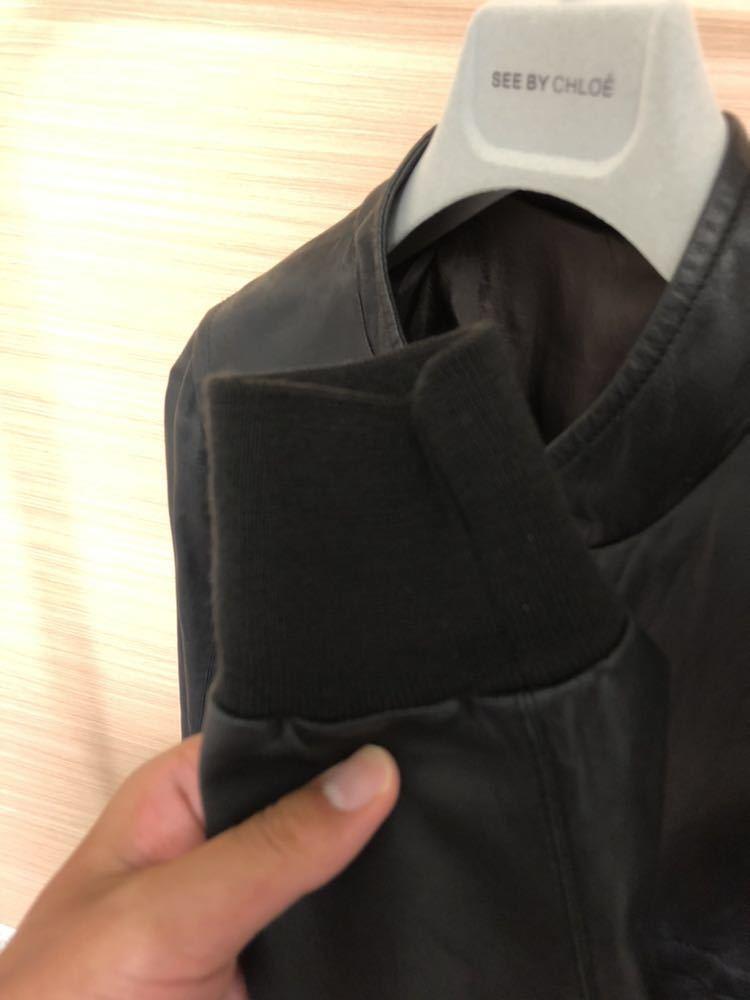 Rick Owens リックオウエンス レザージャケット RU3763 サイズ:XS カラー:ブラック ラムレザー_画像5