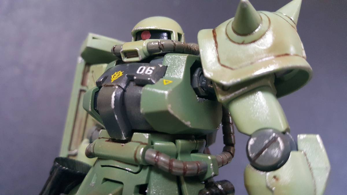 バンダイ HGUC1/144 ザクF2型 (完成塗装品)