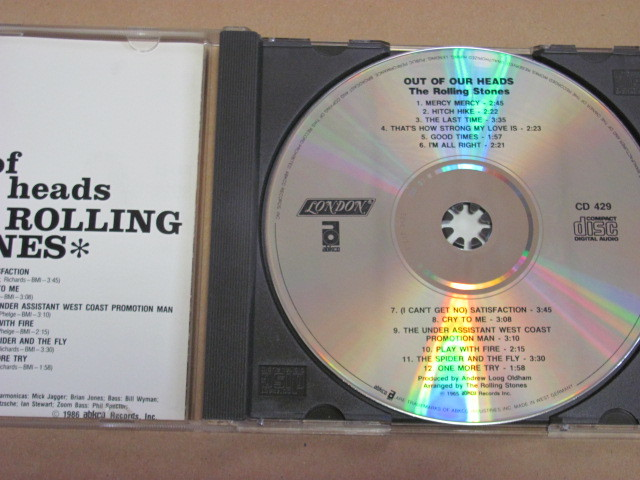 OUT OF OUR HEADS ローリングストーンズ ROLLING STONES CD 輸入盤 西ドイツWEST-GERMANYプレス_画像2